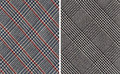 Classic Plaids Textile Swatches Royalty Free Stock Photo