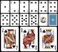 Classic Playing Cards - Clubs Royalty Free Stock Photo