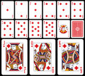 Classic Playing Cards - Diams Royalty Free Stock Photo