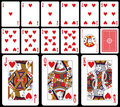 Classic Playing Cards - Hearts Royalty Free Stock Photo