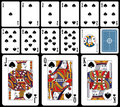 Classic Playing Cards - Spades Royalty Free Stock Photo