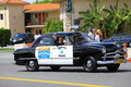Classic Police Car Royalty Free Stock Photography