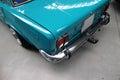 Classic polish car turquoise fiat p Stock Images