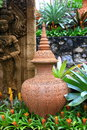 Classic porcelain the image of the at local garden Royalty Free Stock Images