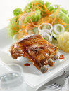 Classic pork ribs Royalty Free Stock Photo