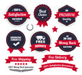 Classic Premium Quality Ecommerce Badges Royalty Free Stock Photo