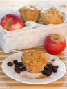 Classic receipe muffins with apple and raisin Royalty Free Stock Photo