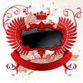 Classic red-black banner Royalty Free Stock Photos