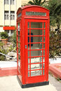 Classic red phone booth Royalty Free Stock Photos