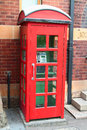 Classic red phone booth the british Royalty Free Stock Image