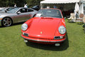 Classic red Porsche sports car Royalty Free Stock Photo