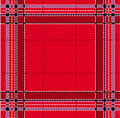 Classic red tartan Royalty Free Stock Photo