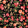 Classic roses on black