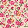 Classic roses pink over a dotty background seamless Royalty Free Stock Photos