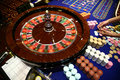 Classic roulette game operated by dealer Royalty Free Stock Photo