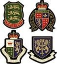 Classic royal emblem badge Royalty Free Stock Photo