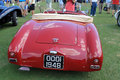 Classic s british sporst car red vauxhall prototype roadster sports at concours in south florida rear view of deck fenders and Royalty Free Stock Image