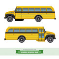 Classic school bus side view Royalty Free Stock Photo