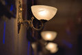 Classic sconce on the wall Royalty Free Stock Photo