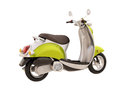 Classic scooter isolated modern on a white background Stock Image