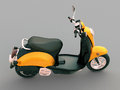 Classic scooter modern on a grey background Royalty Free Stock Photos