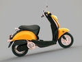 Classic scooter modern on a grey background Royalty Free Stock Images