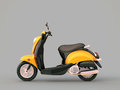 Classic scooter modern on a grey background Stock Image