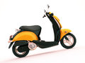 Classic scooter modern on a light background Stock Image