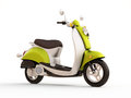 Classic scooter modern on a light background Royalty Free Stock Photography