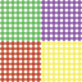 Classic Seamless Gingham Pattern Set