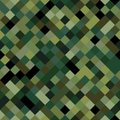 Classic seamless pattern with digital pixel camouflage. Camo print background for urban modern fashion fabric design