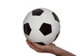Classic soccer ball Royalty Free Stock Photo