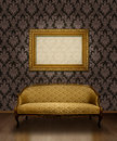 Classic sofa and frame Royalty Free Stock Photos