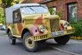 Classic Soviet car GAZ-69 Royalty Free Stock Photo