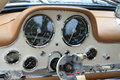 Classic sports car dials Royalty Free Stock Photo