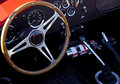 Classic Sports Car Interior Stock Images