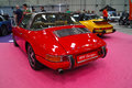 Classic sports cars porsche targa red and yellow german Royalty Free Stock Image