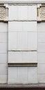 Classic stone column base detail. Royalty Free Stock Photo