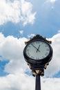 Classic Street Clock Under Nice Sky Royalty Free Stock Photo