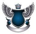 Classic style metallic emblem. Royalty Free Stock Photo