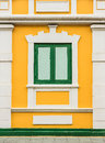 Classic style of wooden window historical building bangkok Royalty Free Stock Photos
