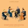 Classic symphony orchestra string quartet