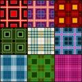 Classic tartan, british traditional stripe, plaid vector seamless patterns set Royalty Free Stock Photo