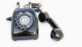Classic telephone black with on white Royalty Free Stock Images