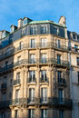 Classic townhouse in downtown paris france Stock Image
