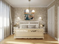 Classic Traditional Bedroom Interior Design Royalty Free Stock Photo