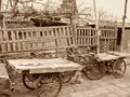 stock image of  Classic transport bicycles in a working class district of Beijing