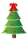 Classic tree christmas vector illustration drawing art of decorative Royalty Free Stock Images