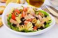 Classic tuna salad with pasta Stock Photography