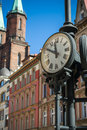 Classic urban clock Royalty Free Stock Photo